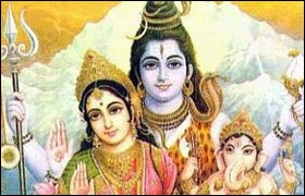 Parvati, Shiva And Ganesha